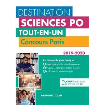 Destination Sciences Po Concours Paris 2019-2020 Tout-en-un