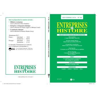 Entreprises et histoire 84 septembre 2016