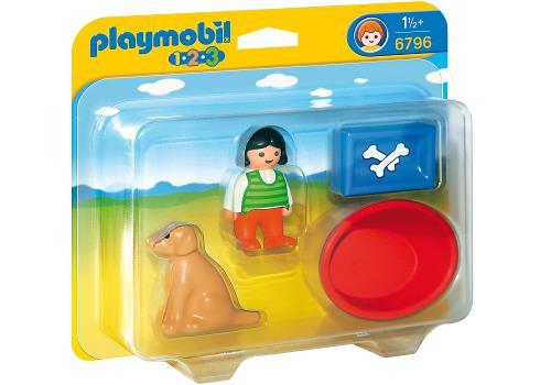 Playmobil 1.2.3 6796 Enfant avec chien