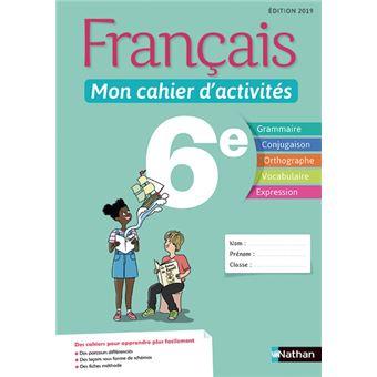 Francais Mon Cahier D Activites 6e Eleve 2019