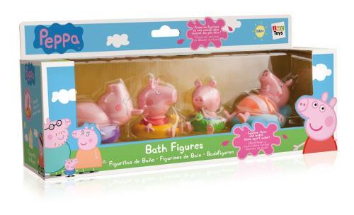 Jouet De Bain Imc Toys Peppa Pig Bath Avec 4 Figurines Jouet Pour Le Bain Achat Prix Fnac