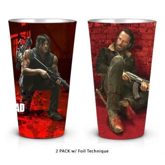 WALKING DEAD-RICK AND DARYL-2 PACK PINT GLASS SET