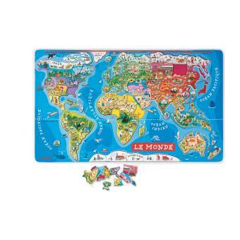 Puzzle Janod Monde magnétique 92 pièces