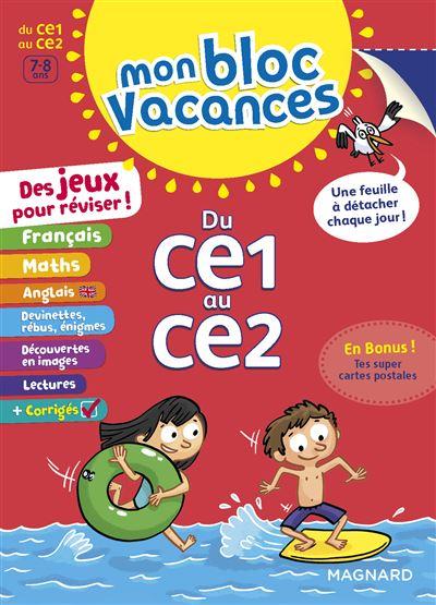 Mon Bloc Vacances Du CE1 au CE2