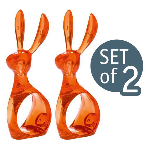 Set de 2 ronds de serviette Koziol Hazel Orange