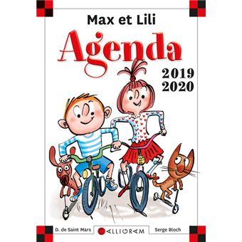 Max et LiliAgenda scolaire 2019-2020