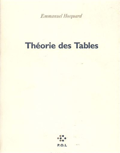 Theorie des tables