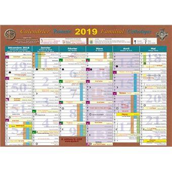 Achat Calendrier 2019.Calendrier 2019 Familial Catholique