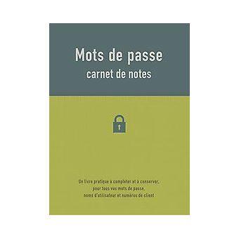 CARNET DE NOTES - MOTS DE PASSE