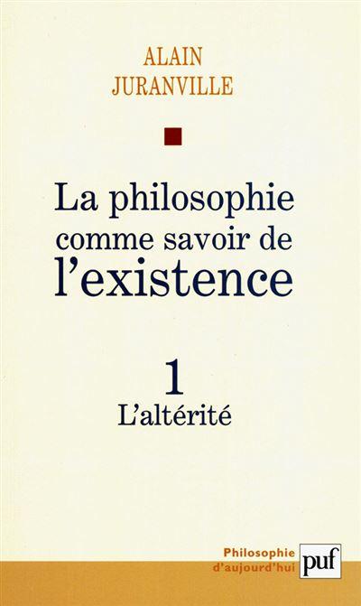 La philosophie comme savoir de l'existence, existence et inconscient
