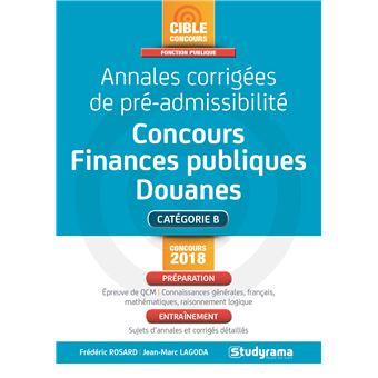Annales corrigées de pré-admissibilité Concours des finances