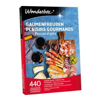 Coffret cadeau Wonderbox Plaisirs gourmands