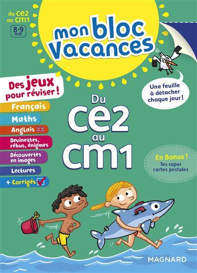 Mon Bloc Vacances Du CE2 au CM1