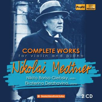 NIKOLAI MEDTNER:COMPLETE WORKS FOR PIANO & VIOLIN/2CD