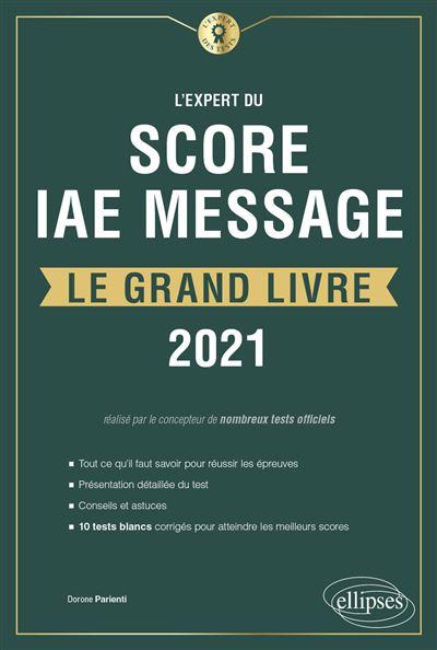 L'Expert du Score IAE Message - Le Grand Livre