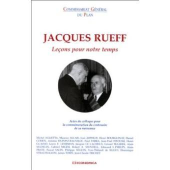 Jacques rueff lecons pour notre temps