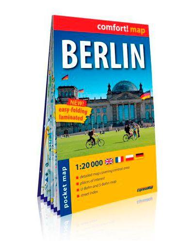 Berlin (ang) 1/20.000 (carte format de poche lamin