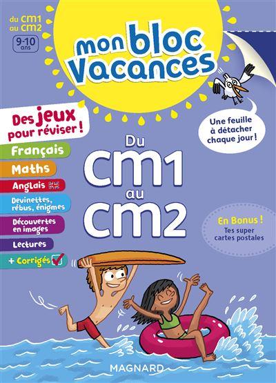 Mon Bloc Vacances Du CM1 au CM2