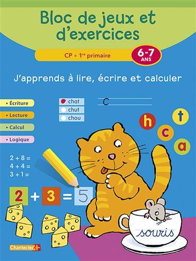 Bloc de jeux et exercices - j'apprends a lire, ecrire (6-7a)