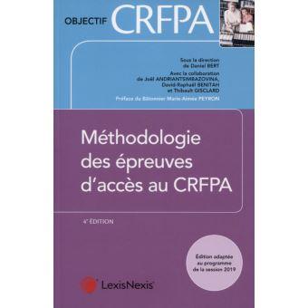 Méthodologie des épreuves d'entrée au CRFPA