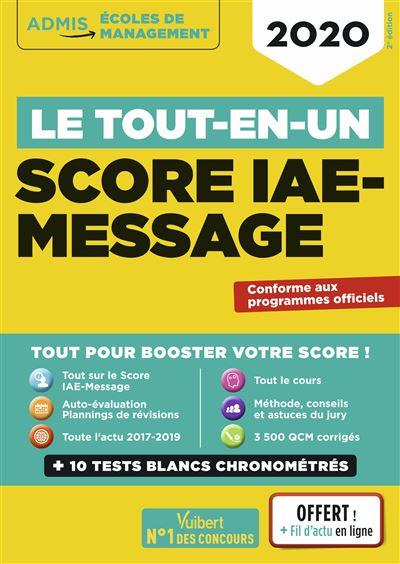 Le tout-en-un Score IAE-MESSAGE - Fil d'actu offert