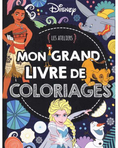 Coloriage Disney Grand Format.Disney Classiques Les Ateliers Disney Mon Grand Livre De Coloriages