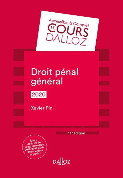 Droit pénal général 2020 - 11e éd. - 9782247195480 - 9,99 €