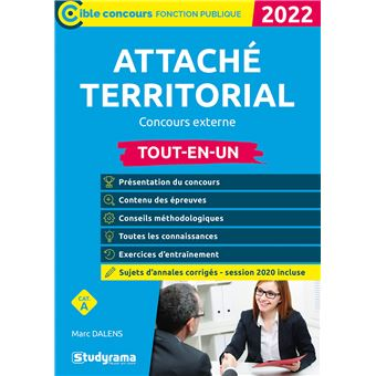 Attaché territorial, concours externe