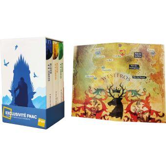 Game Of Thrones Le Trone De Fer Les 3 Premiers Tomes Du Trone De Fer De G R R Martin Avec Une Carte Collector A L Interieur 22 X 36 Cm Plie