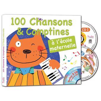100 chansons et comptines l cole maternelle livre cd - Livre maternelle gratuit ...