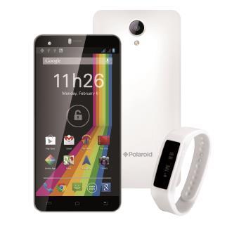8583855acb Smartphone Polaroid Cosmos Double SIM 8 Go Blanc + Bracelet connecté FitBand