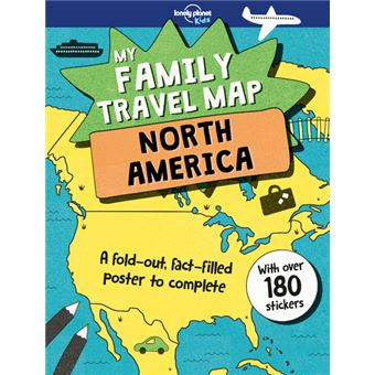 My family travel map North America