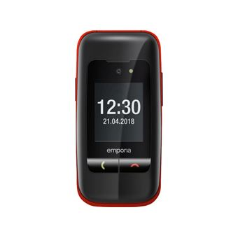 Emporia One Mobile Flip Phone Black/Red