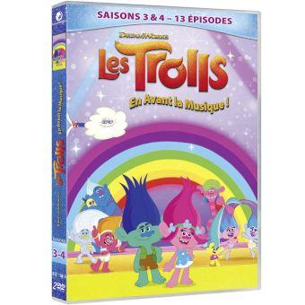TrollsCoffret Trolls en avant la musique Saisons 3 et 4 DVD