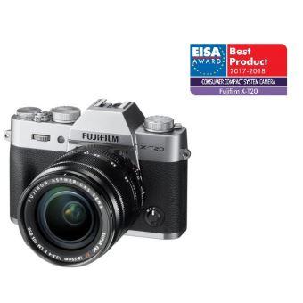 Hybride Fujifilm X-T20 Boîtier Nu + Objectif XF 18-55 mm F2.8-4 R LM OIS Argent