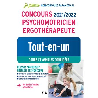 Concours psychomotricien ergotherapeute tout-en-un cours et