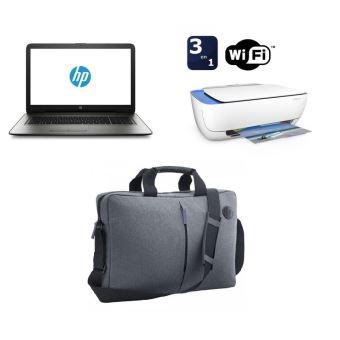 """PC Portable HP 17-x134nf 17.3"""" + Imprimante Deskjet 3632 Tout-en-un WiFi Blanche + Mallette Grise pour PC Portable 17.3"""""""