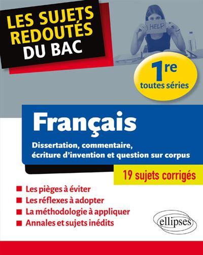 Les sujets redoutés du bac français 1ère toutes séries