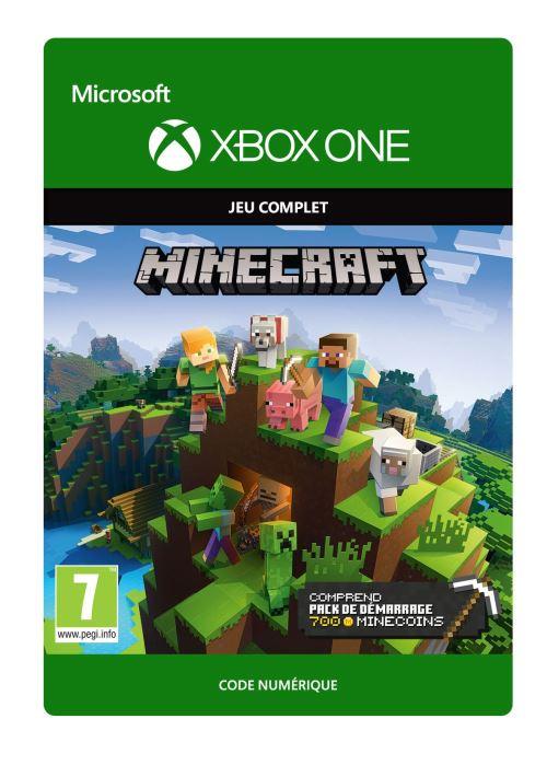 Code de téléchargement Minecraft Pack de démarrage 700 Minecoins Xbox One