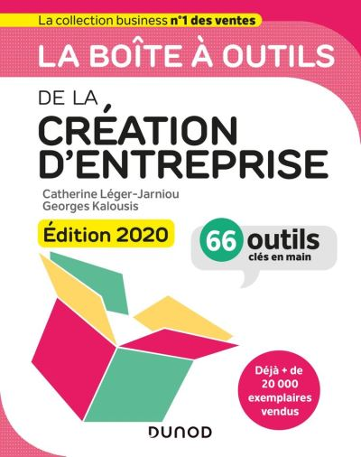 La boîte à outils de la Création d'entreprise - Edition 2020 - 66 outils clés en main - 9782100809295 - 14,99 €