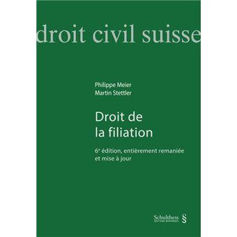 Droit de la filiation 6ème édition