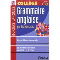 Bordas Langues - Grammaire anglaise par les exercices