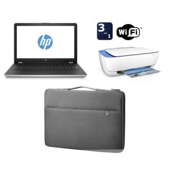 """PC Portable HP 15-bs009nf 15.6"""" + Imprimante Deskjet 3632 Tout-en-un WiFi Blanche + Housse de transport pour PC Portable 15.6"""""""