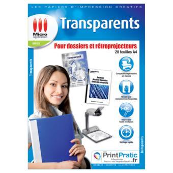 Micro Application film transparent pour rétroprojecteur