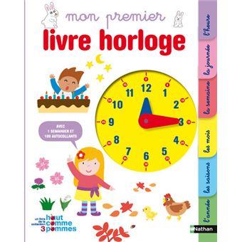 Mon premier livre horloge cartonn collectif achat - Reduction temps l frais de port gratuit ...