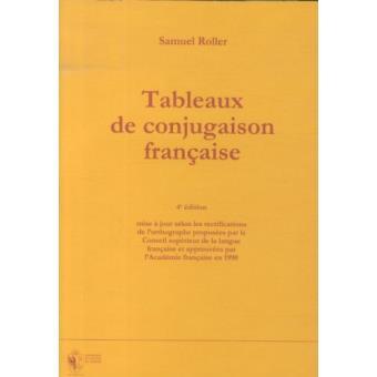 Tableaux De Conjugaison Francaise Broche Inconnus Livre Tous Les Livres A La Fnac