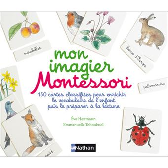 mon imagier montessori coffret contient 150 cartes classifi es pour enrichir le vocabulaire de l. Black Bedroom Furniture Sets. Home Design Ideas
