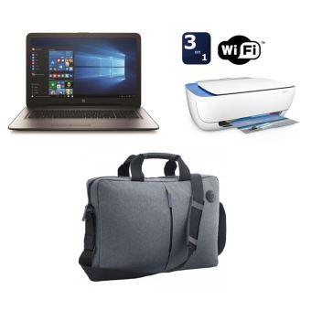 """PC Portable HP 17-x136nf 17.3"""" + Imprimante Deskjet 3632 Tout-en-un WiFi Blanche + Mallette HP Grise pour PC Portable 17.3"""""""
