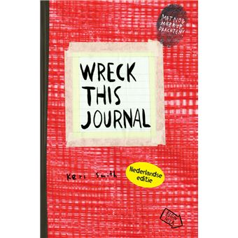 Wreck this journal NL editie (rood)