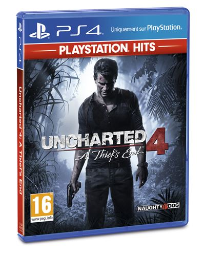 Uncharted 4 : A Thief's End Playstation Hits PS4